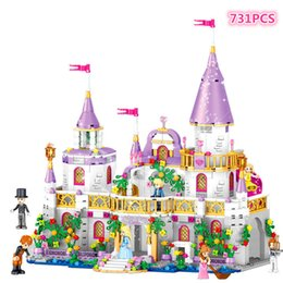 $enCountryForm.capitalKeyWord NZ - 731pcs Romantic Castle Princess Friend Girl Building Blocks Bricks For Children Sets Toys Compatible With LegoINGlys Friends