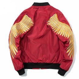 $enCountryForm.capitalKeyWord UK - Gold Wing Embroidery Jacket Men 2018 New Spring Zipper Army Pilot Bomber Jackets Coats 2018 Fashion Streetwear