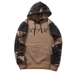 Army cAmouflAge clothing online shopping - Streetwear Camouflage Long Sleeves Hooded Hoodies Fashion Sweatshirt US Size Homme Pullover Mens Casual Top Clothing