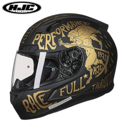 dot approved helmets UK - Original HJC CL-17 full face motorcycle helmet man woman moto racing helmets DOT & SHELL approved high quality motorbike helmets