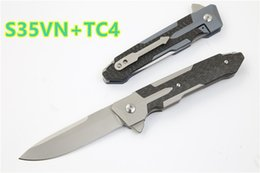 titanium washers 2019 - Sparta flipper folding knife S35VN blade ball bearing washer TC4 handle camping outdoor survival knife EDC tool xmas gif