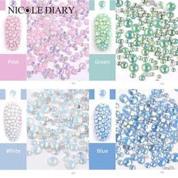 $enCountryForm.capitalKeyWord NZ - 1 Bag Mixed Size Opal Jelly Nail Art Rhinestones AB Color Flat Back Nail Design Tips DIY Manicure 3D Art Decoration