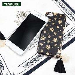 star cases NZ - wholesale Star Glitter Cell Phone Covers for Iphone 6 6s 7 7plus Case Tassel TPU Bling Phone Cases Cellphone Holder Silicone