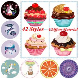 Unicornio Mandala Toalla de playa 42 estilos Chiffon Ice Cream Pizza de frutas Impreso redondo Picnic Verano Swimming Toallas de baño Outdoor Pads OOA5127 en venta