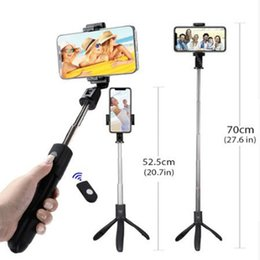 HandHeld bluetootH selfie stick monopod online shopping - Bluetooth Remote Control Selfie Stick With Foldable Tripod Handheld Extendable Timer Monopod Stand Holder Built in Bluetooth Shutter New