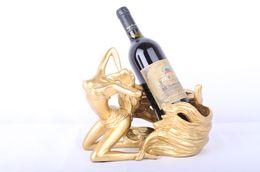 $enCountryForm.capitalKeyWord Australia - Angle Statue Wine Holder Resin Sculpture Wine Rack Wine stand Home Decoration Interior Crafts Home Kitchen Bar Accessories