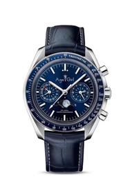 China Luxury Brand New Men Automatic Mechanical Watches Speed Black Blue Leather Canvas Luminous Moonphase Watch Dark Ceramic Bezel supplier mechanical moonphase suppliers