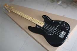 Chinese  PRECISION BASS four-string electric BASS black body guard maple fingerboard manufacturers