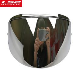cb4fdf12 Ls2 visor online shopping - LS2 Valiant helmet visor smoke rainbow silver  original extra lens shield