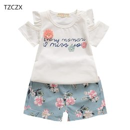 Floral Print Shirts Baby Australia - TZCZX-2100 New Children Baby Girls Sets Fashion Floral Printed T-Shirt + Shorts Suit For 9 Month to 4 Years Old Kids Wear