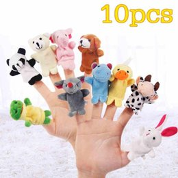$enCountryForm.capitalKeyWord UK - Cute Baby Plush Toy 10pcs set Finger fantoches de dedo Puppets Educational Hand Puppet Mini Hand Toy set for baby kids gift D15