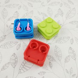 $enCountryForm.capitalKeyWord NZ - Silicone Building Blocks Cable Winder Earphone Wrap Square Cable Cord Lines Earbuds Holder Clips Wire Organizer Cell Phone Accessories