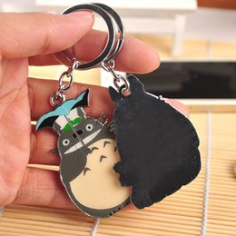 Discount japanese anime gifts - New Mode Style Newest Arrival Cute Japanese Anime Gray My Neighbor Totoro Keychain Metal Figures Pendants Key Chains Gif