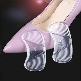 high heels wholesalers NZ - High heels stickers women shoes foot post thicken super soft silicone heel pads transparent heel cushion invisiable Grinding feet stickers