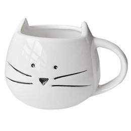 O Coffee Cup Black Cat Animal Milk Ceramic Lovers Mug Cute Birthday GiftChristmas GiftWhite
