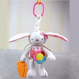 Soft toyS rabbit online shopping - Rattles Hanging Plush New Baby Toy Soft Plush Rabbit Baby Rattle Ring Bell Crib Bed Hanging Animal Toy