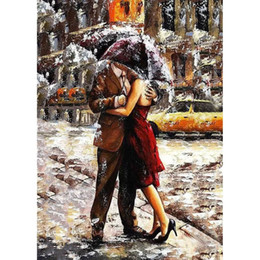 $enCountryForm.capitalKeyWord Australia - Frameless Picture Romantic Lover Diy Digital Painting By Numbers Modern Wall Art Canvas Unique Gife For Home Decor 40 *50cm Arts
