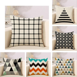 $enCountryForm.capitalKeyWord NZ - Pillow Case Simple color triangular lattices flax Pillowcase pillow set Home Textiles Without Pillow Core