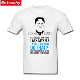 black shirt office men 2019 - Drop Shipping Mens Funky The Office Dwight Schrute Tv Show Shirt Short Sleeved Custom Design T-Shirt Adult Big Tall Size