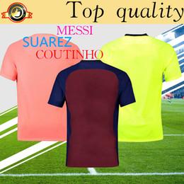 camisa de fútbol de calidad superior de barcelona 2019 messi soccer home 18  19 personalizada uniforme de fútbol de O.DEMBELE SUAREZ COUTINHO 3639d090358