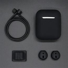 Venta al por mayor de Juego de protector de auriculares para Apple Airpods Funda con correa de silicona portátil para Air Pods Accesorios para auriculares Accesorios