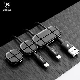 $enCountryForm.capitalKeyWord Australia - Baseus Cable Winder Flexible Silicone USB Cable Organizer Wire Cord Management Cable Clip Holder For Mouse Headphone Earphone