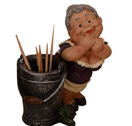 TooThpicks holder online shopping - Creative Home Decor Lovely Lady Pocket Toothpick Holder Carton