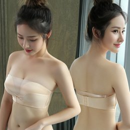 1969dae291b5b Discount strapless bra slips - Strapless anti-walking bra wrapped chest  thickening small cover gathered