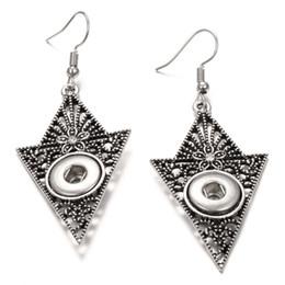 noosa snap earrings 2019 - Noosa Snap Earrings Jewelry retro black flower carving 12mm Snap Button Earrings DIY Noosa Chunk dangle drop Earrings fo