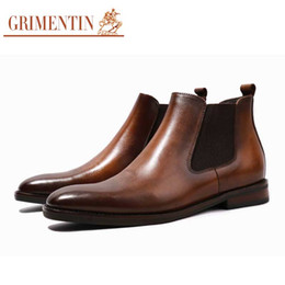 $enCountryForm.capitalKeyWord Australia - GRIMENTIN Hot sale brand handmade mens boots genuine leather retro Italian style men ankle boots for fashion formal business male shoes Y100