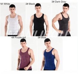 $enCountryForm.capitalKeyWord Australia - 2018 Men Body Shaper Shirt Slim Lift Slimming Vest Tummy Body Shaper Belly Fatty Body Girdle Invisible Design Underwear Vest for Men New