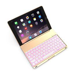 Ingrosso Tastiera senza fili Bluetooth Alluminio ultra sottile Tastiera senza fili Bluetooth Custodia per Apple iPad Air 2