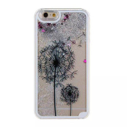 Dandelion Case Australia - Cute Hot Luxury Dynamic 3D Dual Dandelion Pattern Quicksand Liquid Glitter Bling Star Phone Case Cover For iPhone 6 6S 7 8 Plus X