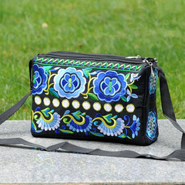 Multi Color Ladies Handbags NZ - Fashion Embroidery Women Shopping handbags!All-match Nice Floral embroidered Lady Shoulder&Crossbody bag Multi Three-layer bags