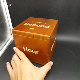 Опт 13 см Волшебная коробка Головоломка со специальным механизмом игра мозг тизер игрушка деревянная коробка Марка с Год месяц день час минута вторая
