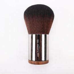 $enCountryForm.capitalKeyWord UK - Luxury Round Wood Handle Dome Shape Kabuki Dense Powder Brush NO.128 Flawless Blush Powder Makeup Brushes