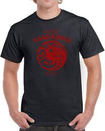 $enCountryForm.capitalKeyWord NZ - Trend Crew Neck Short-Sleeve Graphic 084 House Targaryen Mens T-Shirt Dragon Sigil Thrones Fire Vintage Retro Tees For Men