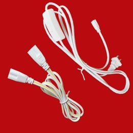 Touch swiTch plug online shopping - T5 T8 Double End Pin LED Tube Connector Cable Wire Extension Cord US plug with switch For Integrated LED Fluorescent Tube Light Bulb