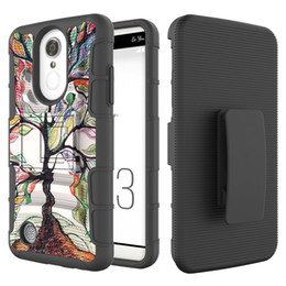 Wholesale iphone boost resale online - Camouflage in Armor Case For LG Aristo X210 Tribute Dynasty Boost mobile LV3 Case Silicon Hard Phone Cover With Belt Clip Holster