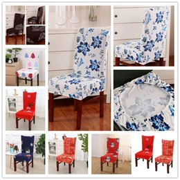 Discount dining tables cover - Christmas Chair Covers Home Dining Multifunctional Chair Cover Removable Elastic Xmas Slipcovers Seat Covers Table Party