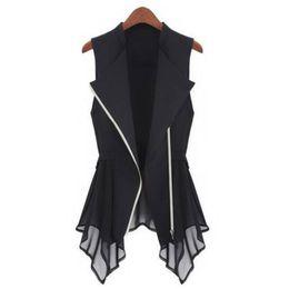 $enCountryForm.capitalKeyWord UK - MWSFH Plus Size Long Vest Womens Spring Summer Outwear New Women Vest Coat Europe sleeveless Long Cardigan Top Jackets Outerwear