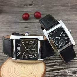 Famous squared watches online shopping - 2018 Brand Fashion Luxury Man Women leather Watch Famous designer Stainless Steel Sexy Lady Watch High Quality Famous Brand Quartz Clock