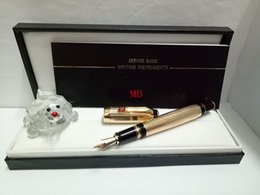 $enCountryForm.capitalKeyWord Australia - Luxury Gold Fountain Pen with Metal material best gift office school supplies and the color of the diamond is random delivery