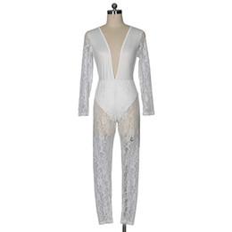 $enCountryForm.capitalKeyWord UK - Women Jumpsuit 2018 Deep V Mesh Lace See Through Rompers Womens Jumpsuit Long Sleeve Sexy Women Playsuits Club Wear