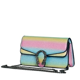 eebb1cad72ad 2018 Gradient Color Shoulder Bags Fashion Crossbody Bag Flap Bag For  Beautiful Ladies Women Free Shipping