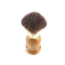 China New Barber Hair Shaving Razor Brushes Natural Wood Handle Beard Brush For Men Best Gift Barber Tool suppliers