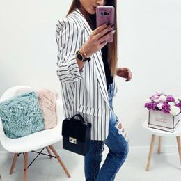 $enCountryForm.capitalKeyWord Canada - Female Blazer Black White Striped Sexy Casual Suit Long Sleeve Women Jacket Blazer Autumn