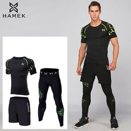 $enCountryForm.capitalKeyWord NZ - 2017 Quick Dry Men Sports Suit Compression Underwear Running Set Yoga Gym Training Tracksuit Football Running Clothes For Men XL