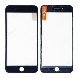 $enCountryForm.capitalKeyWord NZ - 50PCS For iPhone 8 8p plus Outer Glass + Middle Frame Bezel + OCA together 3in 1 Front Glass Lens with