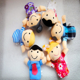 Discount puppets - Children's Toys Family Hand-puppet Plush Toy Doll Funny Interactive Doll Creative Gift for Kids